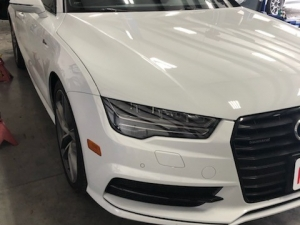 Wheel Reconditioning of 2016 Audi A7 Supercharged in Dallas, TX