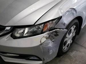 Before - 2013 Honda Civic Front Fender Repair in Dallas, TX